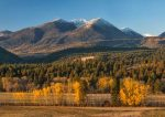 Beautiful Fall colors come to the Elkhorn Mountains in Eastern Oregon