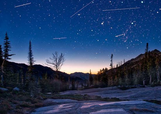 The Perseids Meteor Shower in the Wallowa Mountains of Northeast Oregon.