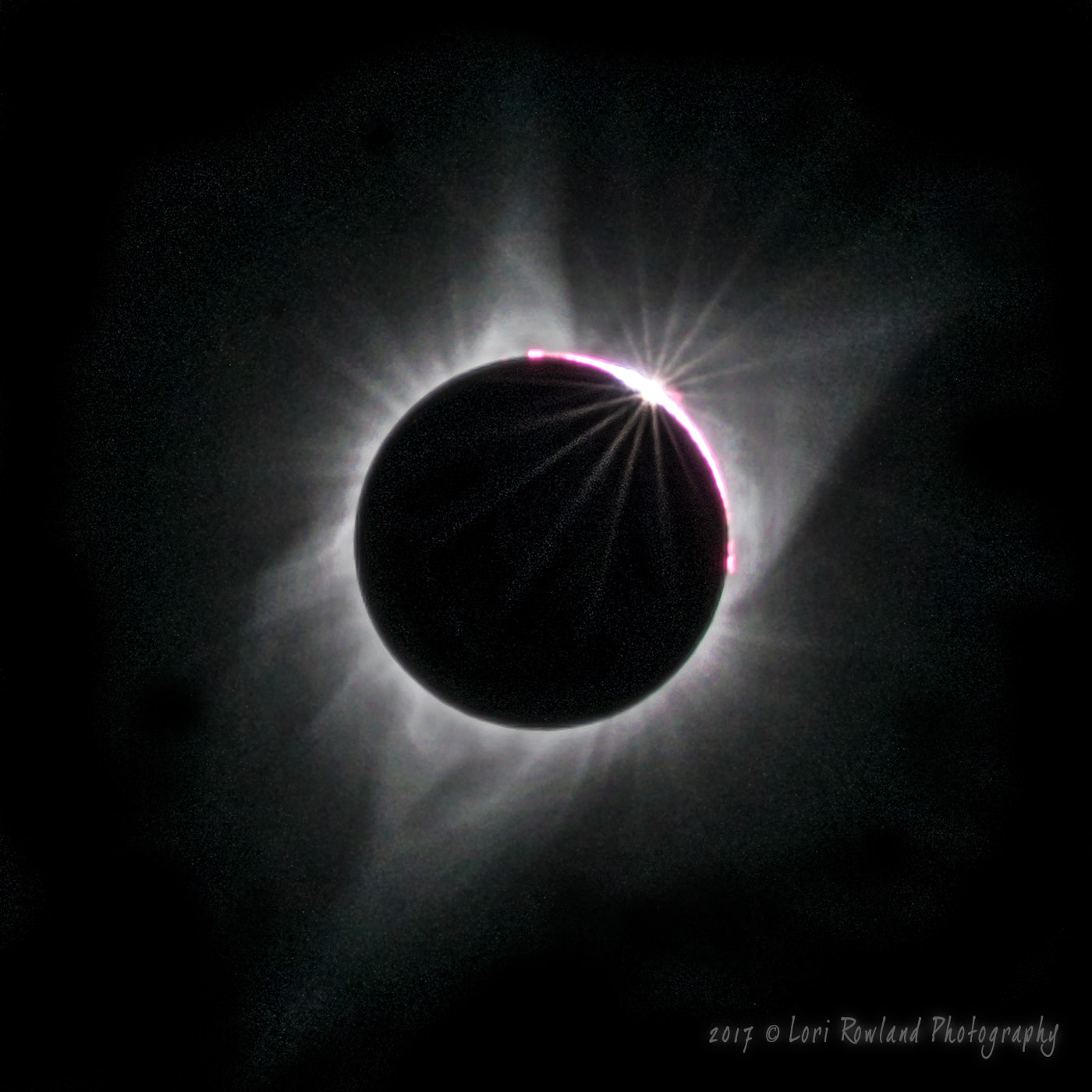 A Diamond Ring captured during the 2017 Total Solar Eclipse