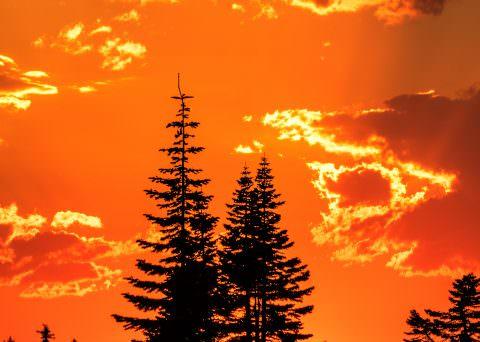 Eastern Oregon Firey Sunset