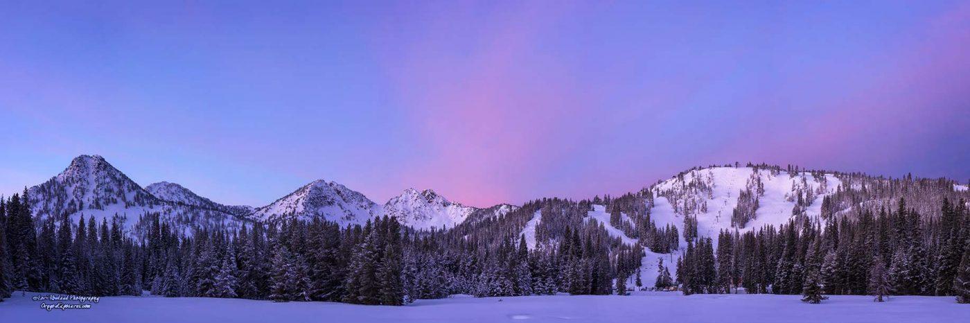 Pre-Sunrise Glow at Anthony Lakes Ski Area in Northeast Oregon