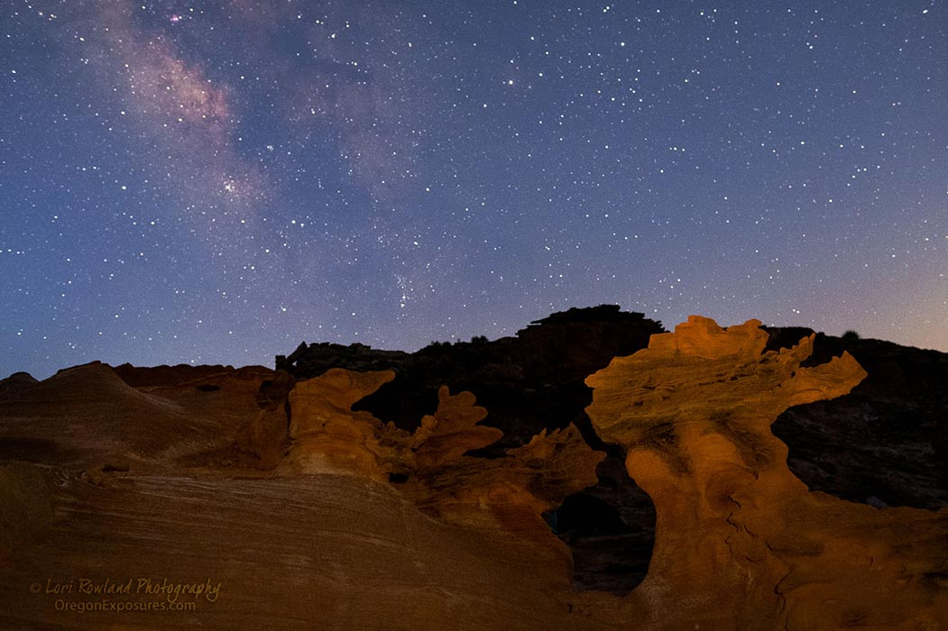 Milky Way and Goblins, Gold Butte National Monument.
