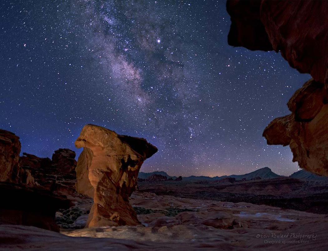Milky Way on a clear night at Gold Butte National Monument in Nevada.
