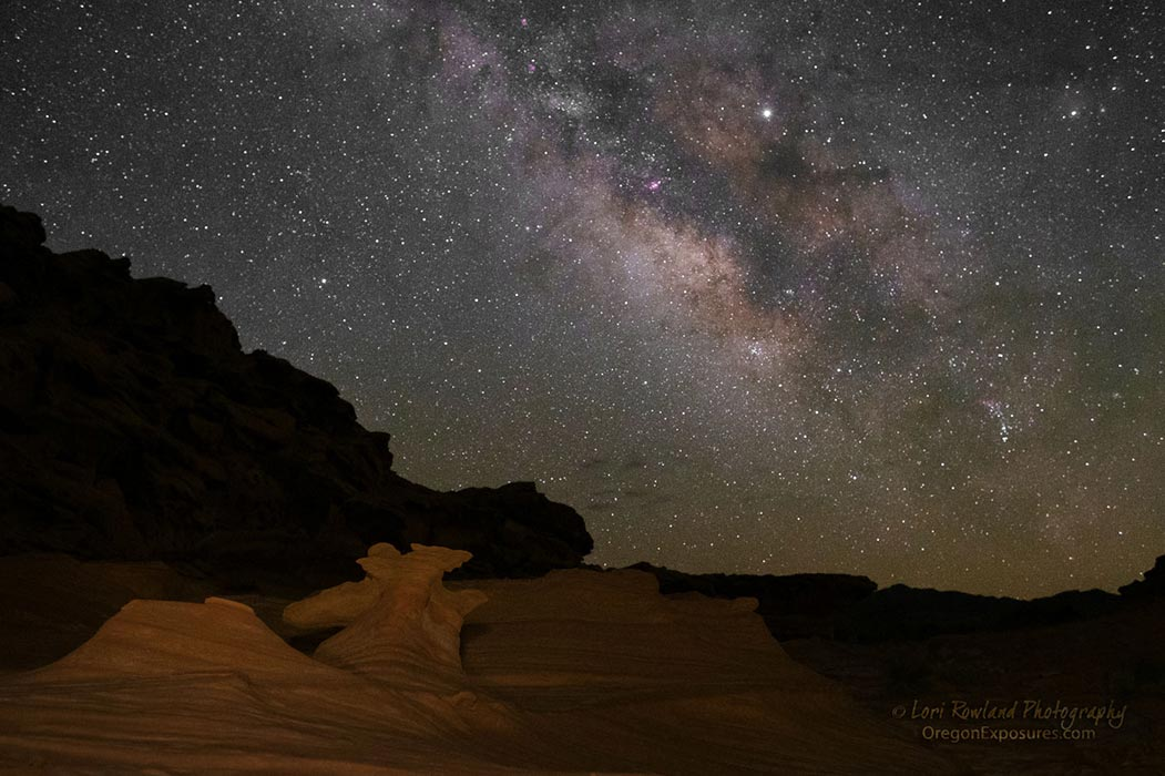 Milky Way at Gold Butte National Monument in Nevada.
