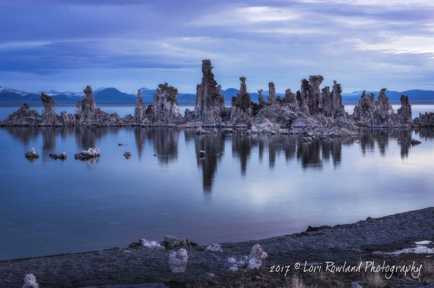 Early morning reflections of Tufa at Mono Lake, California